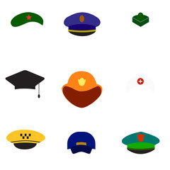 Different hats. Vector.