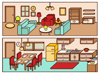 Set of Adjustable Interior Furniture Design