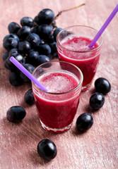Freshly made grape juice