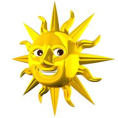 Golden Smiling Sun