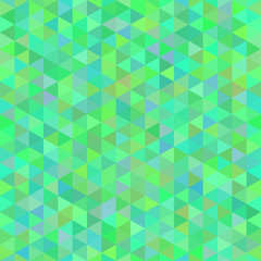 abstract seamless pattern from green tone triangles