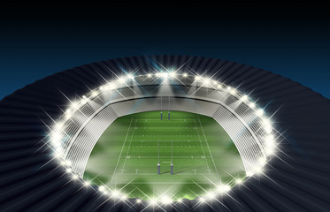 Rugby Stadium Night