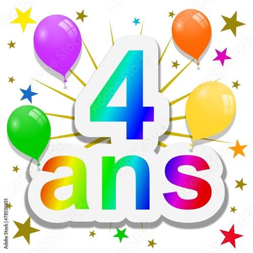 Anniversaire 4 ans photo libre de droits sur la banque - Dessin gateau anniversaire 4 ans ...