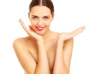 Beautiful woman posing naked