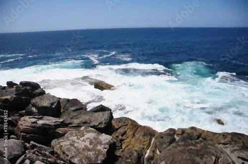 Sea at Bondi Beach in Sydney of New South Wales, Australia