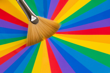 Multi coloured Paint and brush