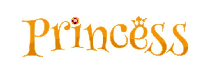 Princess word - golden letters.