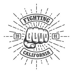 Hipster emblem about fighting club