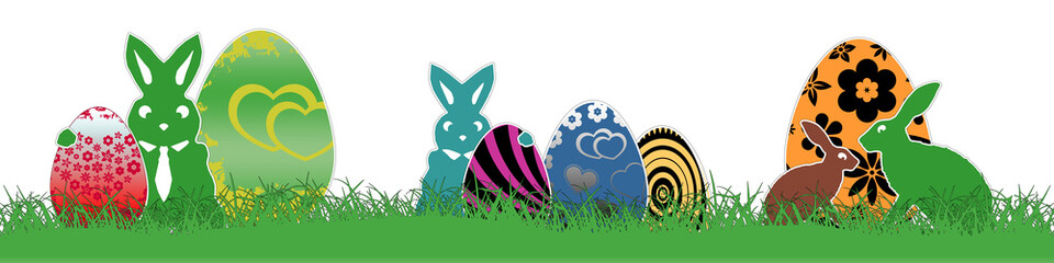 eb12 EasterBanner - seamless - Happy Easter colorful 4to1 g3234