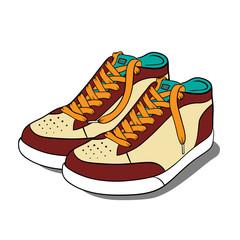 Sport shoes. Vector illustration