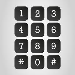 telephone number keyboard