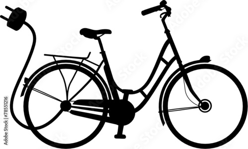 e bike elektrofahrrad vektor silhouette stockfotos und. Black Bedroom Furniture Sets. Home Design Ideas