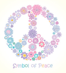 Symbol of peace. Spring flowers.
