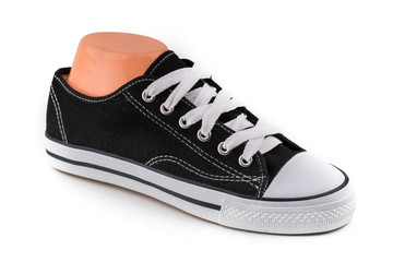an image of cheap black and white sport shoes