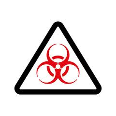 The biohazard icon. Biohazard symbol. Flat