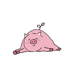 Pig sleeping
