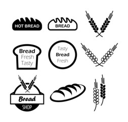 Icons of hot bread