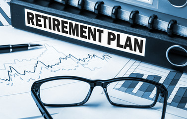 retirement plan label on folder