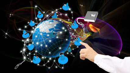Security technology Internet  of global business