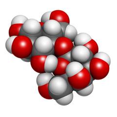Lactose milk sugar molecule