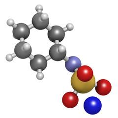 Sodium cyclamate artificial sweetener molecule.