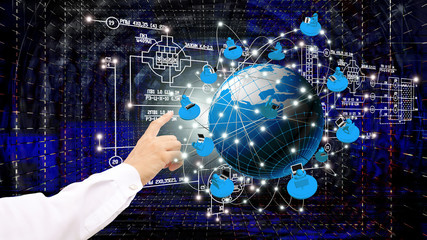 The technology Internet  of global engineering business