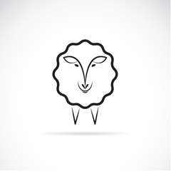 Vector image of an sheep design on white background