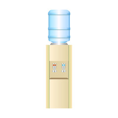 Office water cooler with hot and cold potable