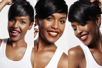 pretty black woman with a different lipstick Fototapete