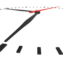 Abstract clock with arrows no numbers on a white background