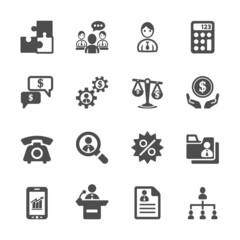 business and management icon set 3, vector eps10