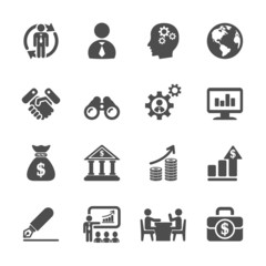 business and management icon set 2, vector eps10