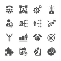 business and management icon set, vector eps10