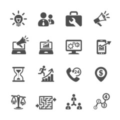 business and management icon set 8, vector eps10