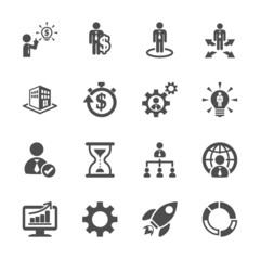 business and management icon set 4, vector eps10