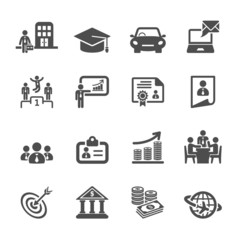 business career life cycle icon set, vector eps10
