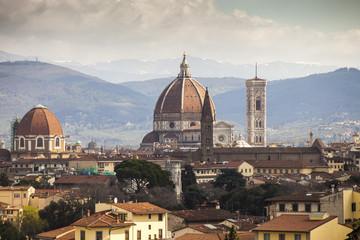 Firenze,veduta della città,il Duomo