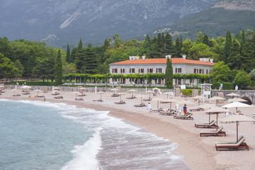 coast near the Sveti Stefan island in Milocer