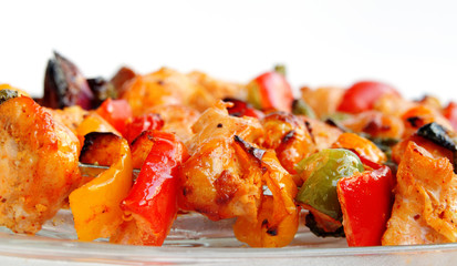 Roasted chicken with capsicum and onion