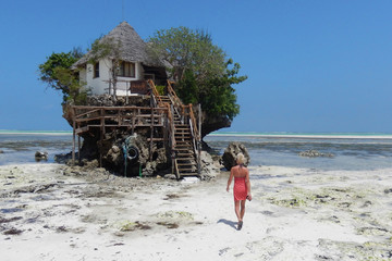 Small house in the middle of nowhere on the beach