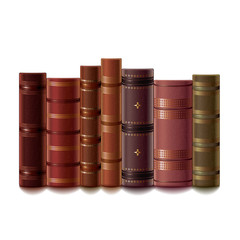 Old books isolated on white vector