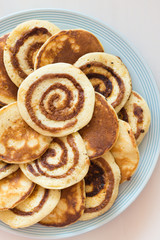 Homemade Cinnamon Roll Pancakes