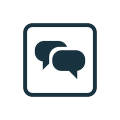 Conversation icon Rounded squares button.