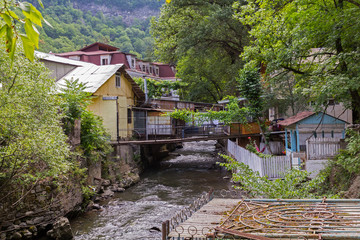 Mountain River Borjomi. Republic of Georgia