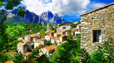 stunning mountain villages of Corsica - Evisa Fototapete