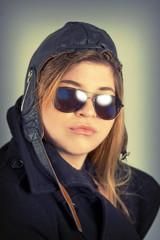 Aviator Girl Portrait
