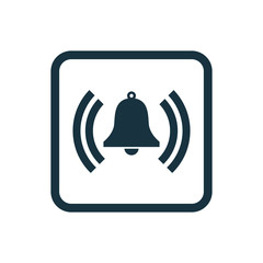 bell icon Rounded squares button.