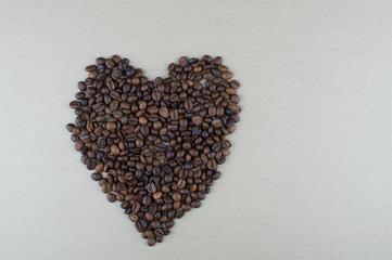 Heart of black coffee