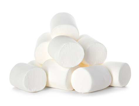 Marshmallow isolated on white background