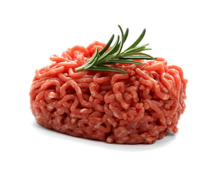 heap beef minced meat with rosemary